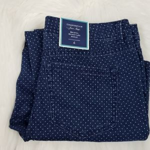 NWT Charter Club Skinny Ankle Dot Jeans